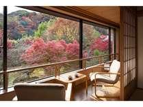 和室からは移り行く四季を感じます。