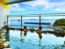 岬の湯 露天風呂 眺めは抜群