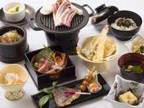 *【2017夏*薄墨膳一例】河和田の地物をふんだんに使用した和食膳です