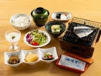 池田産「コシヒカリ」を使用したご飯。和食を中心の朝食です。