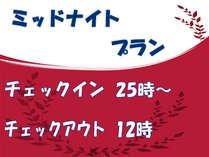 \ミッドナイトプラン【25:00から12:00】≪25%OFF≫セミダブル  朝ごはんバイキング付/
