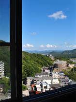 温泉街側の眺め