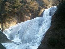 凍結した袋田の滝。