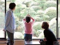 窓から眺める美しい日本庭園に、ゆっくりと流れるひとときを感じます。