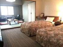 当ホテルで最もスタンダードな和洋室の一例です。