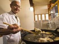 サクサクの天ぷらはホロホロ山荘の名物です
