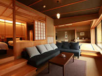 【佳松亭・最上階 五ツ星 貴賓室】最上階、露天風呂付き客室
