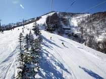 第2リフトの降り場付近。山頂までもう少し、今日は山頂から滑ってみようかな?