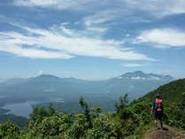 大明神岳から望む野尻湖と妙高山