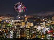 長崎港や女神大橋を一望できるホテル長崎からの1000万ドルの夜景