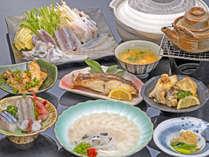 ふぐと地魚、どちらとも食べれる贅沢プラン♪