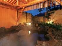 高原の風を感じながら露天風呂でゆったり。