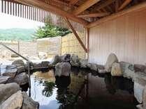 ◆高原の風を感じながら露天風呂でゆったり。
