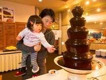 ◆夕食のデザート、チョコレートファウンテンはお子様に大人気★