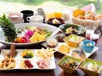 ◆朝食バイキングは和洋20種のメニューが並びます。*イメージ