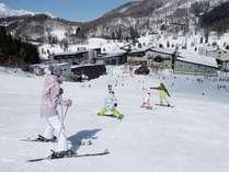 ◆ゲレンデ直結のホテルだから、すぐお部屋に帰れちゃう!初めてのスキー旅行にもおすすめです!