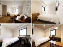13平米~16平米と広さのバリエーション豊かなダブルルームは、お部屋によってしつらいも異なります