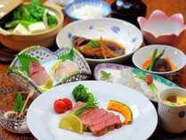 至福の厳選コースのお料理の一例です。