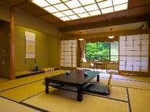 新館12.5畳客室例。2階、3階は女性専用風呂に近く人気があります。