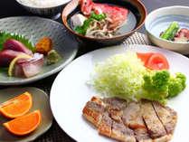 リーズナブルプラン夕食一例です。ビジネスなどリーズナブルに済ませたいお客様にぴったりです(^^♪
