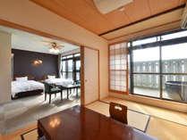 ゆったりとした広さの≪特別室≫。雰囲気あるお部屋で旅の疲れを癒せます