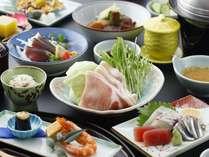 【和会席一例】カツオのタタキやキビナゴ、豚骨など薩摩料理を凝縮させた会席