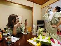 【和室】お風呂上がりはさっぱりの指宿サイダー一気飲み?!(´∀`*)