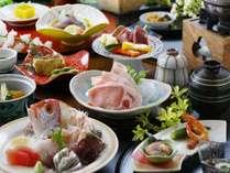 【和会席一例】さつまの郷土料理に加え小鯛の姿造りと黒牛ミニステーキが味わえる特別会席