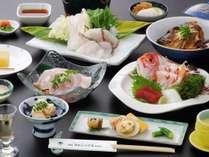 【和会席一例】「鯛しゃぶしゃぶ」メインの郷土料理