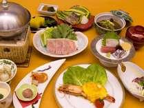 【和会席一例】さつまの郷土料理にエビの焼き物が味わえる会席