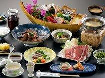 【和会席一例】『お魚』&「お肉」が堪能出来るよくばり舟盛会席(写真の舟盛は2名様盛となっております)