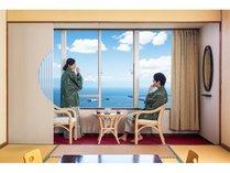 【錦江湾(鹿児島湾)】お部屋からの眺めは最高!!】