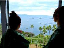 【客室からの眺望】錦江湾(鹿児島湾)を望む絶景が自慢です