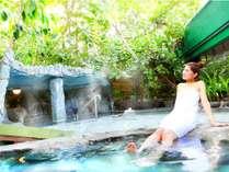 【露天風呂】さわやかな露天風呂でストレスも解消