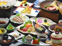 スタンダード会席♪季節の新鮮食材を使用した会席料理をご用意致します。季節・入荷により献立は変ります。