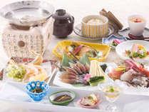 【夕食一例】「旬彩 千歳」自慢の料理をご堪能ください