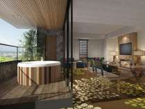 2018年7月リニューアルの絶景浅間view露天風呂付の贅沢客室