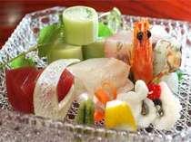 旬の食材を用いた夕食例(一例)