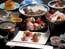 *お夕食一例/玉島は倉敷の食の中心。恵まれた条件を活かした本格和懐石料理は選び抜かれた器と共にどうぞ。