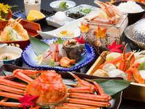 【いろどり御膳◆本ズワイガニづくし】とにかく蟹が食べたいならこちら!ゆで・焼き・鍋など蟹料理堪能♪