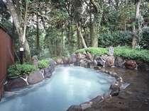 ◆森林の香りと野鳥のさえずりに包まれた天然温泉 露天風呂