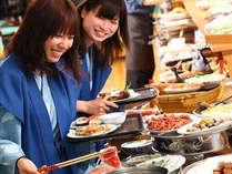 ☆夕食の九州各地の郷土料理や特産品を盛込んだスペシャルバイキング
