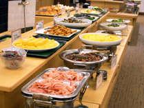 鹿児島ならではの美味しいお料理をたくさんご用意した朝食バイキング