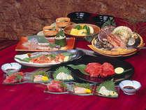 【松阪肉と伊勢湾の幸】松阪と伊勢の名産を食べ比べ(2名盛一例)
