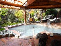 【温泉湯めぐりの楽しみ】本館『湯遊天国』無色透明・乳白色・微黄褐色の3色の温泉で温泉三昧!