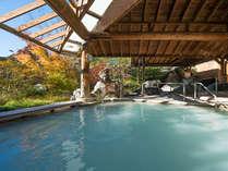 秋色に染まる本館大浴場「湯遊天国」10月下旬~11月上旬頃