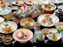 """■基本会席<竹>■旅の演出には欠かせない<京の食材×器>""""頑固なまでに拘った""""京会席を堪能"""