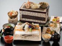 『かに遊膳』(イメージ) 贅沢な蟹の会席料理をぜひご賞味下さい♪♪ ※かに刺・焼きかには二人前。