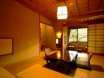 本館「珠衣」周りを緑に囲まれたのどかな環境のお部屋。大浴場の近くです。トイレ・洗面所付