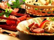 ■料理一例■阿蘇の山の幸、馬刺し、あか牛を使用した創作コースをお楽しみいただけます。